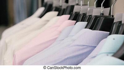 beau, magasin, collection, pendre, nouveau, cintres, ...