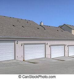 beau, maisons, point jour, utah, portes garage