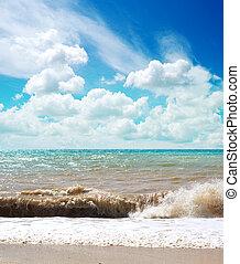 beau, mer, paysage