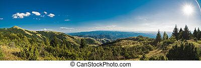 beau, montagne, été, panorama, balkans, jour
