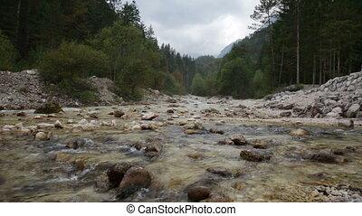 beau, montagne, paysage rivière