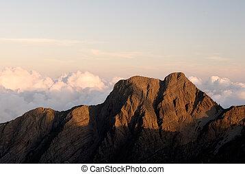 beau, montagne
