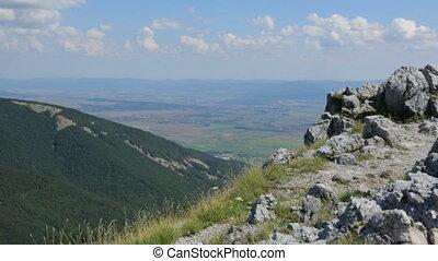 beau, montagnes, balkanique, paysage