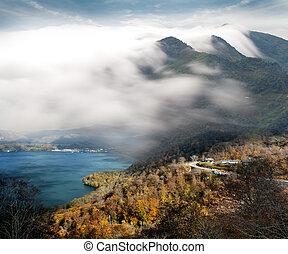 beau, montagnes, paysage