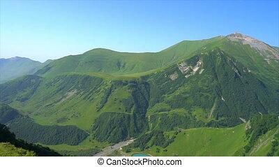 beau, montagnes, vert, géorgie, présentation