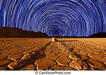 beau, mort, dune, sable, californie, formations, vallée