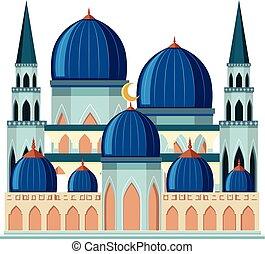 beau, mosquée bleue