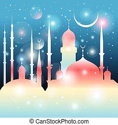 beau, mosquées, minarets