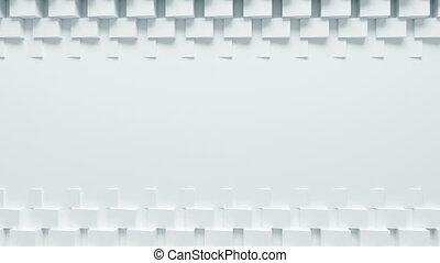 beau, mouvement, fait boucle, tourner, lumière, résumé, process., boîtes, ultra, animation., engendré, informatique, conception, hd, fond, écran, blanc, 4k, shadow., 3840x2160., 3d