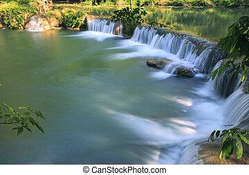 beau, national, profond, papa, forêt, pur, chutes d'eau, thaïlande