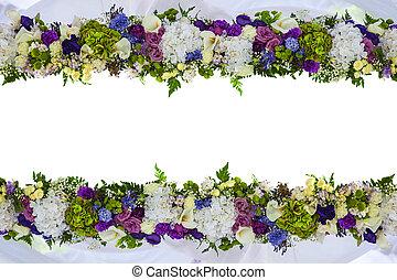 beau, naturel, cadre, isolé, flowers., carte