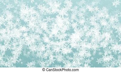 beau, noël, flocons neige