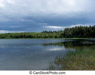 beau, nord, lac
