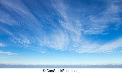 beau, nuages, cirrus