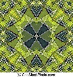 beau, objets, résumé, illustration, vecteur, arrière-plan vert, géométrique