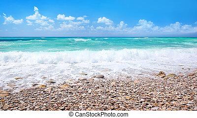 beau, panoramique, plage, paysage
