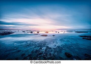 beau, paysage, mer