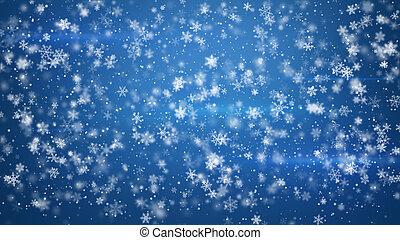beau, pelucheux, noël, chute neige