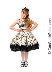 beau, peu, robe, girl
