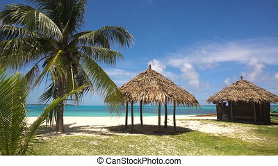 beau, philippines, island., île, daco, plage tropicale, ...