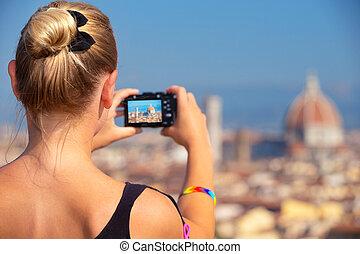 beau, photographier, vue