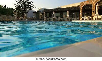beau, piscine, natation