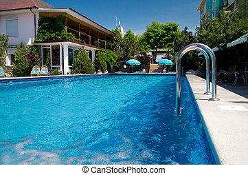 beau, piscine