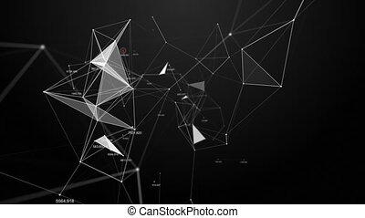 beau, plexus, résumé, numbers., arrière-plan., technologie, futuriste