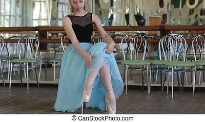 beau, portrait, danseur ballet