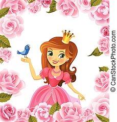 beau, princesse, illustration