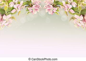 beau, printemps, fleurs