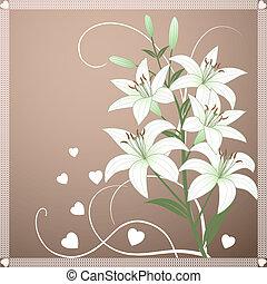 beau, printemps, lil, papier peint