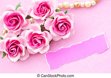 beau, rose, message, card., roses