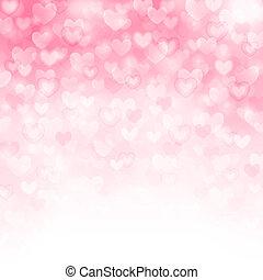 beau, rose, vecteur, fond, cœurs