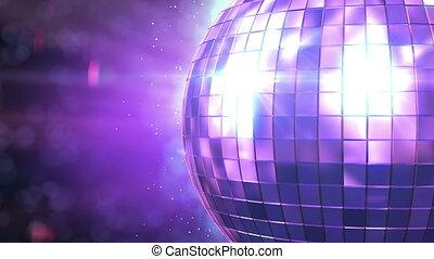beau, rotation, balle, boucle, disco