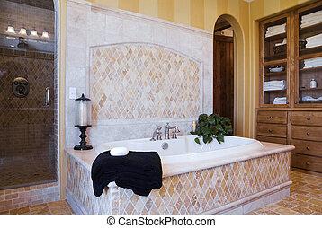 beau, salle bains