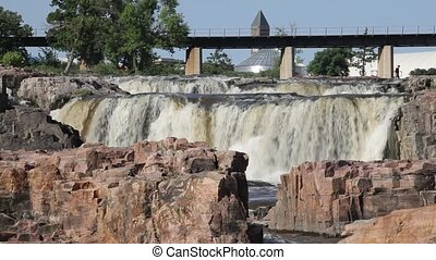 beau, sd, chutes, sioux tombe