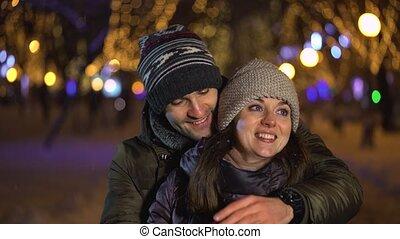 beau, sien, surprenant, amour, couple, engagement, jeune, propose, anneau, mariage, associé, homme
