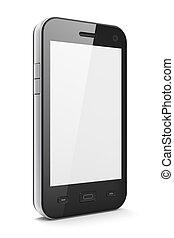 beau, smartphone, noir, highly-datailed