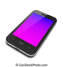 beau, smartphone, noir