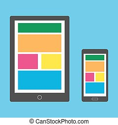 beau, smartphone, tablette