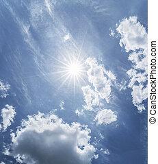 beau, soleil, nuages