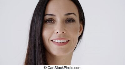 beau sourire, femme, magnifique, jeune