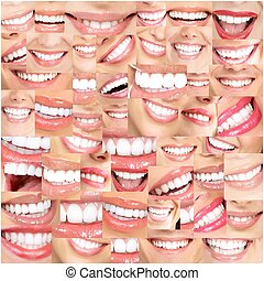 beau, sourires, teeth.