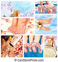 beau, spa, masage, collage.
