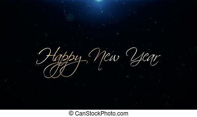 beau, texte, salutation, animation, joyeux, année, nouveau, noël
