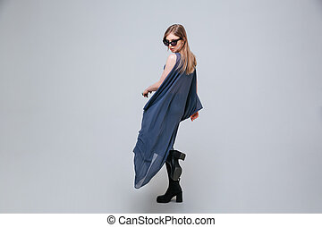 beau, tissu, femme, mode