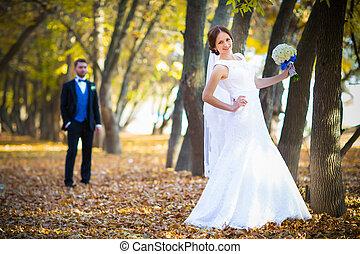 beau, très, photographie, couple, mariage