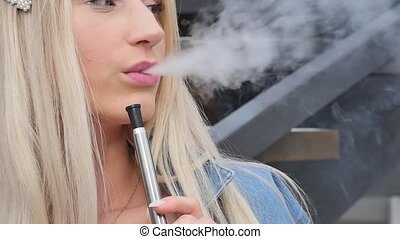 beau, traction, femme, tabac, espace vert, air, vacances,...