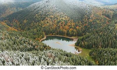beau, ukraine., europe, lacs, destination voyage, bleu,...